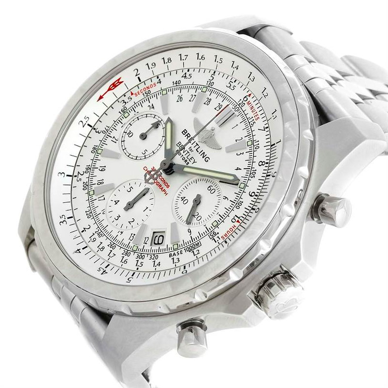 Breitling Bentley Motors Chronograph White Dial Mens Watch A25363 SwissWatchExpo