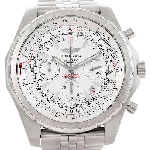 Photo of Breitling Bentley Motors Chronograph White Dial Mens Watch A25363