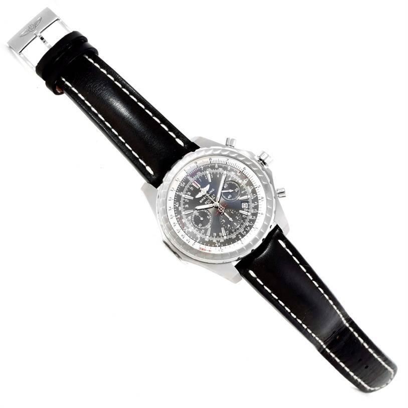 Breitling Bentley Motors T Grey Dial Mens Steel Watch A25363 Unworn SwissWatchExpo