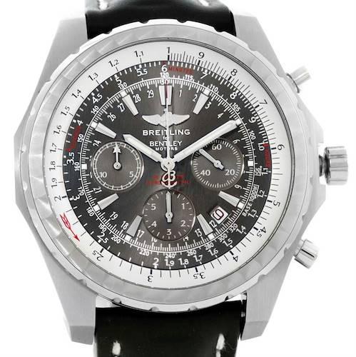 Photo of Breitling Bentley Motors T Grey Dial Mens Steel Watch A25363 Unworn