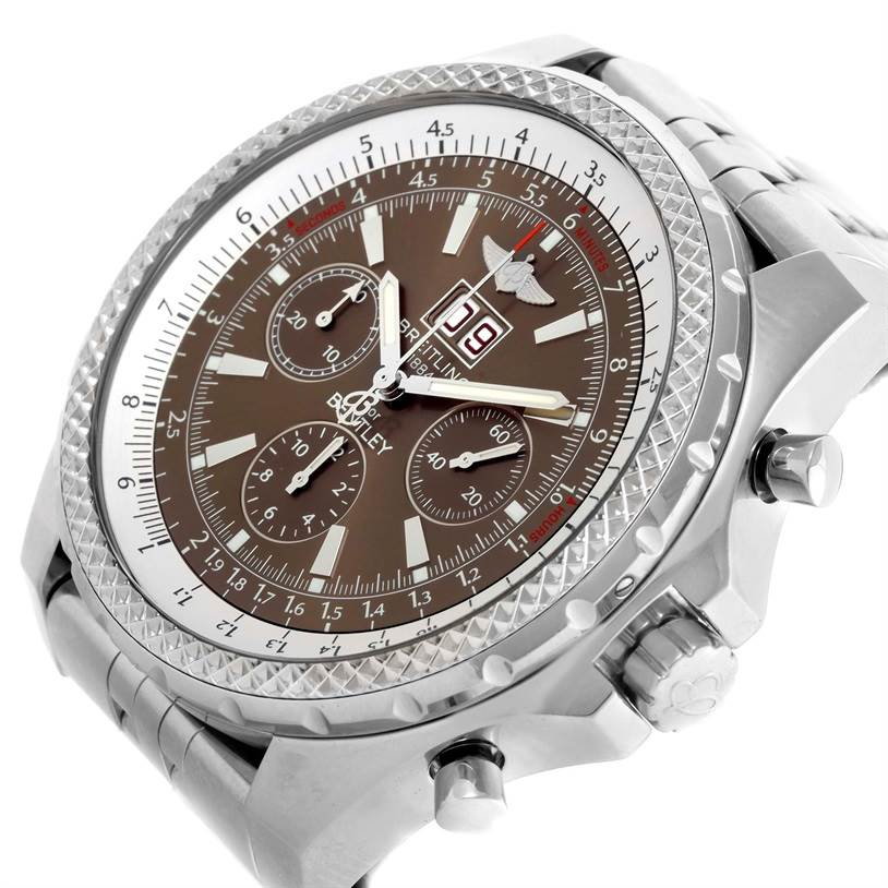 10799 Breitling Bentley Motors Chronograph Bronze Dial Mens Watch A44362 SwissWatchExpo
