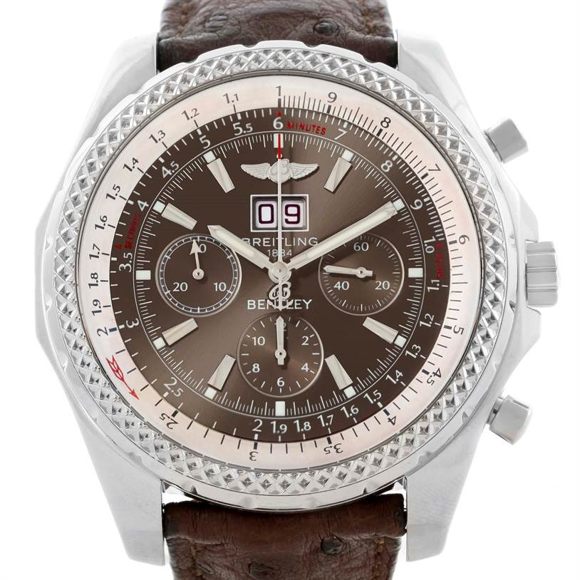11139 Breitling Bentley Motors Chronograph Bronze Dial Mens Watch A44362 SwissWatchExpo