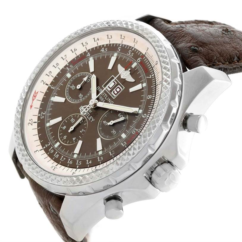 Breitling Bentley Motors Chronograph Bronze Dial Mens Watch A44362 SwissWatchExpo