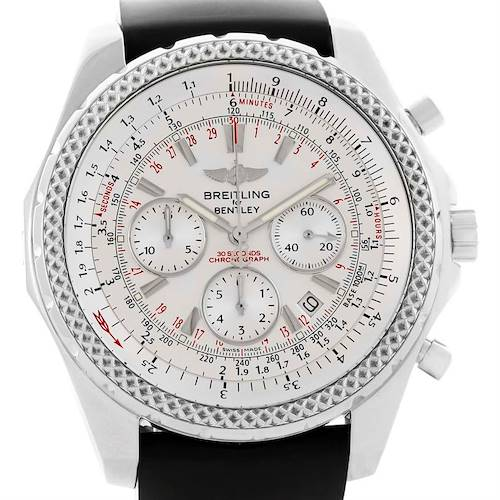 Photo of Breitling Bentley Motors Chronograph White Dial Mens Watch A25362