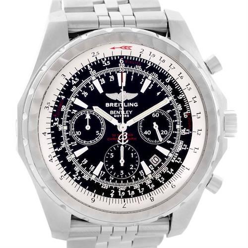 Photo of Breitling Bentley Motors T Black Dial Mens Steel Watch A25363