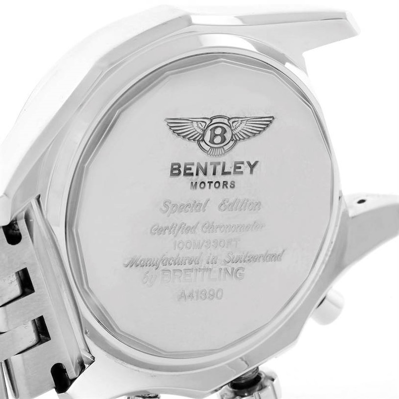 Breitling Bentley Barnato 42 Chronograph Silver Dial Mens Watch A41390 SwissWatchExpo