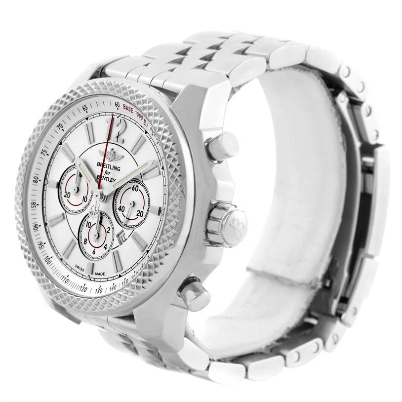 11210 Breitling Bentley Barnato 42 Chronograph Silver Dial Mens Watch A41390 SwissWatchExpo