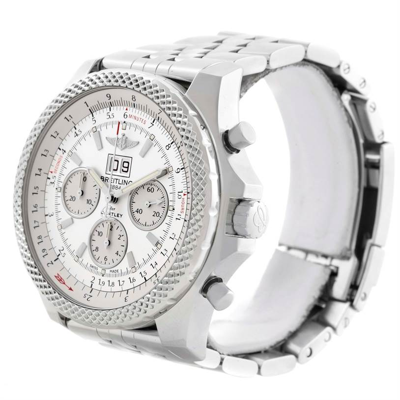 11217 Breitling Bentley 6.75 Speed Chronograph White Dial Mens Watch A44364 SwissWatchExpo