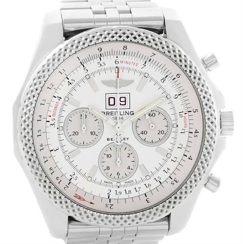 Photo of Breitling Bentley 6.75 Speed Chronograph White Dial Mens Watch A44364