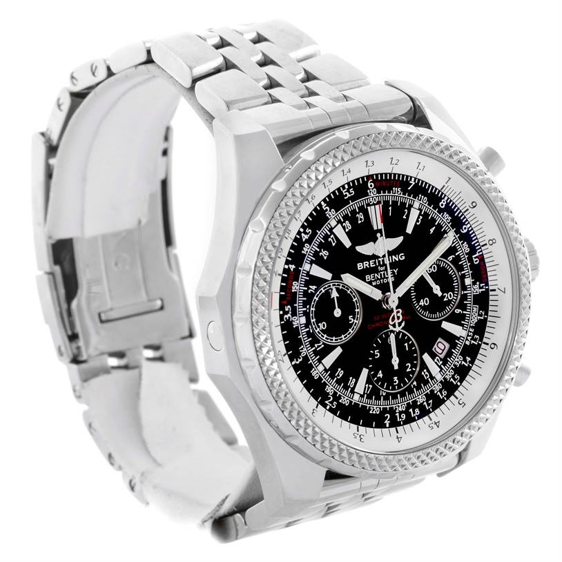 11405 Breitling Bentley Motors Chronograph Black Dial Mens Watch A25362 SwissWatchExpo
