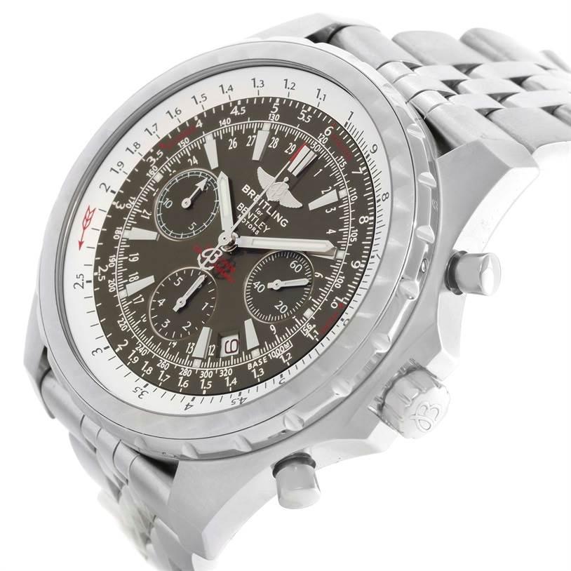 Breitling Bentley Motors T Grey Dial Steel Watch A25363 Box Papers SwissWatchExpo