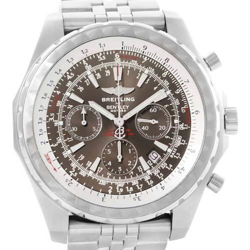 Photo of Breitling Bentley Motors T Grey Dial Steel Watch A25363 Box Papers