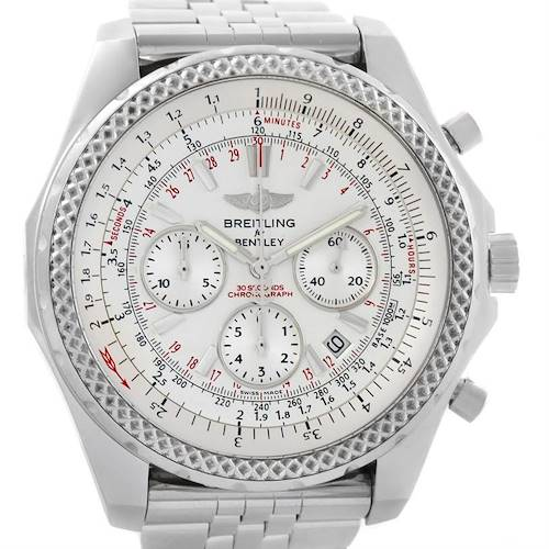 Photo of Breitling Bentley Motors Chronograph Silver Dial Mens Watch A25362