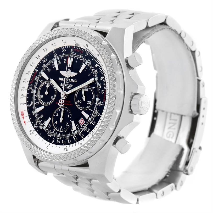 11642 Breitling Bentley Motors Chronograph Black Dial Mens Watch A25362 SwissWatchExpo