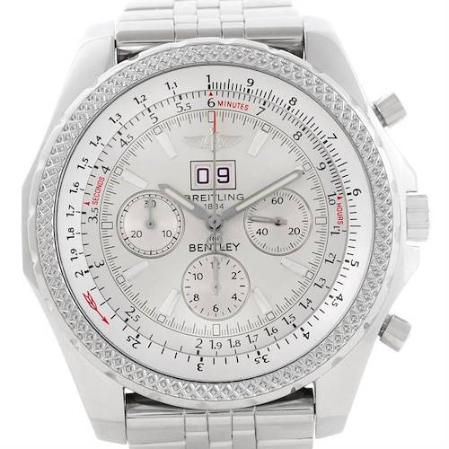 Photo of Breitling Bentley Motors Chrono Silver Dial Steel Mens Watch A44362