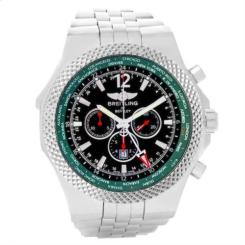 Photo of Breitling Bentley Chronograph GMT Green Dial Limited Edition Watch A47362
