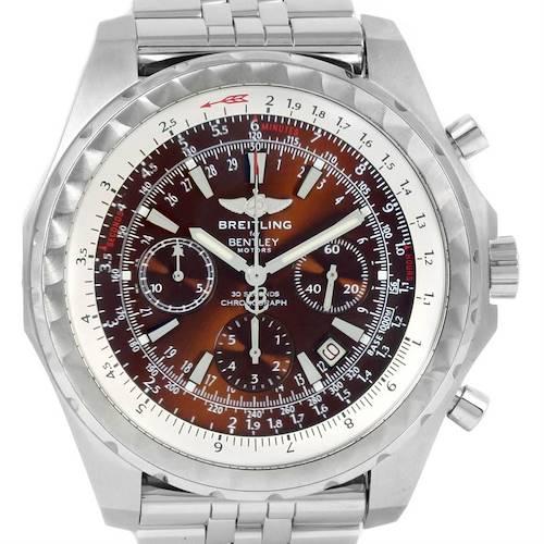 Photo of Breitling Bentley Motors T Bronze Dial Steel Watch A25363 Box Papers