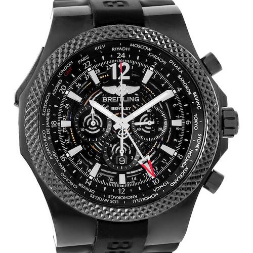 Photo of Breitling Bentley GMT Midnight Carbon Ruber Strap LE Watch M47362