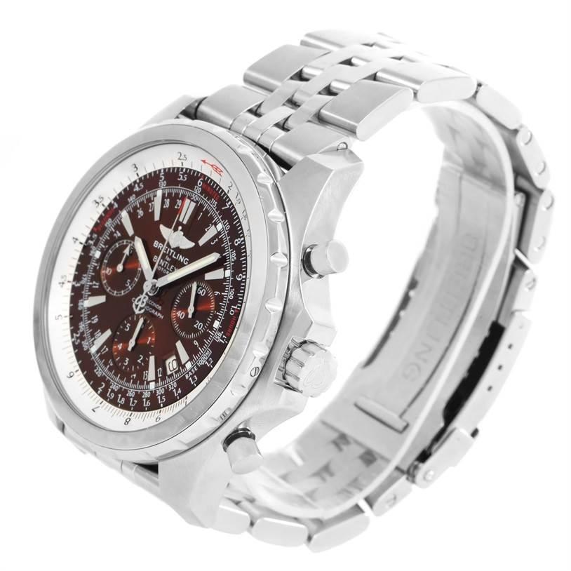 12429 Breitling Bentley Motors T Bronze Dial Steel Watch A25363 Year 2006 SwissWatchExpo