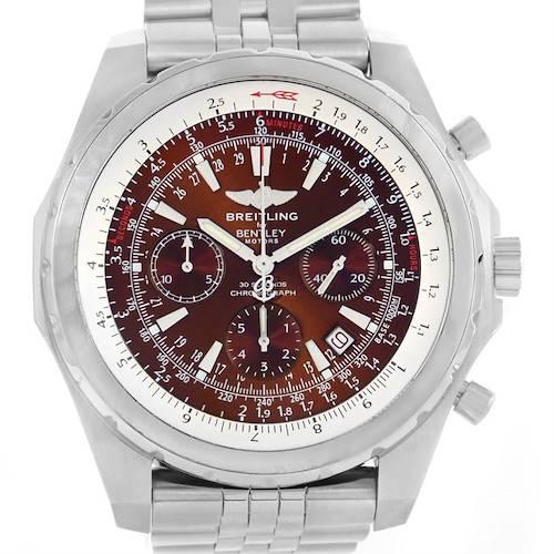 Photo of Breitling Bentley Motors T Bronze Dial Steel Watch A25363 Year 2006