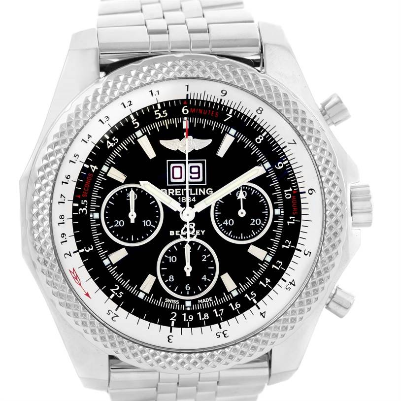 12441 Breitling Bentley 6.75 Speed Chronograph Black Dial Mens Watch A44364 SwissWatchExpo