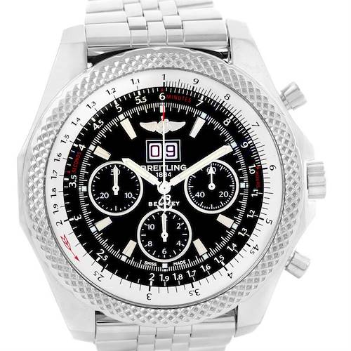 Photo of Breitling Bentley 6.75 Speed Chronograph Black Dial Mens Watch A44364
