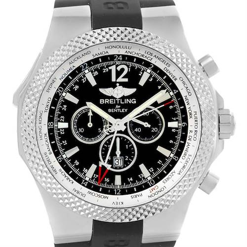 Photo of Breitling Bentley Chronograph GMT Black Dial Mens Watch A47362 Unworn
