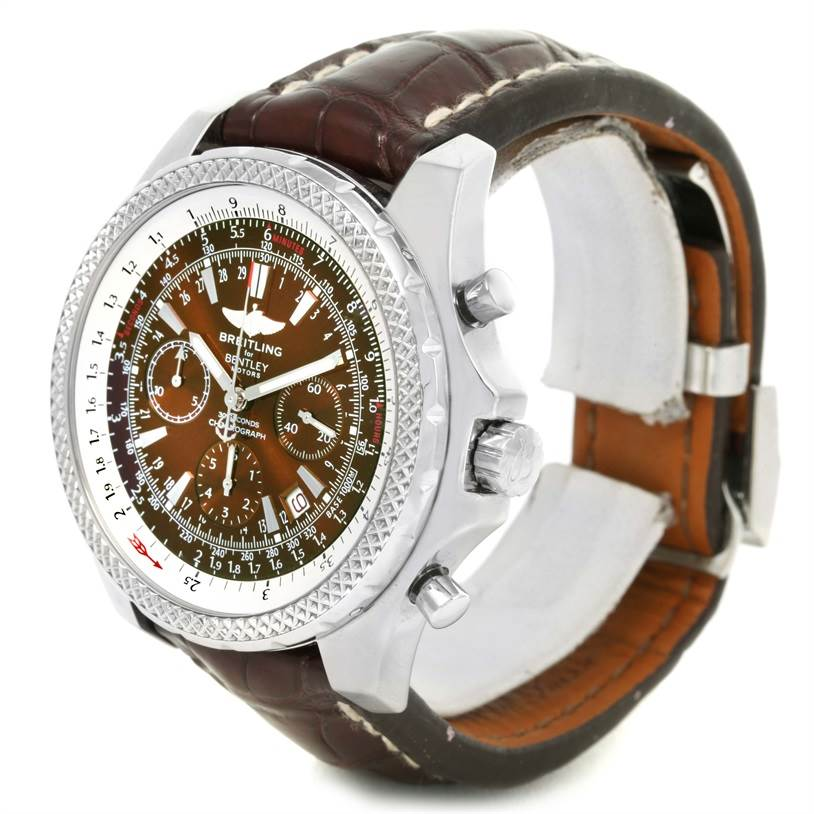 Breitling Bentley Motors Chronograph Bronze Dial Mens Watch A25362 SwissWatchExpo