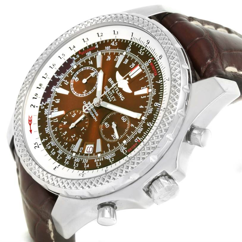 12734 Breitling Bentley Motors Chronograph Bronze Dial Mens Watch A25362 SwissWatchExpo