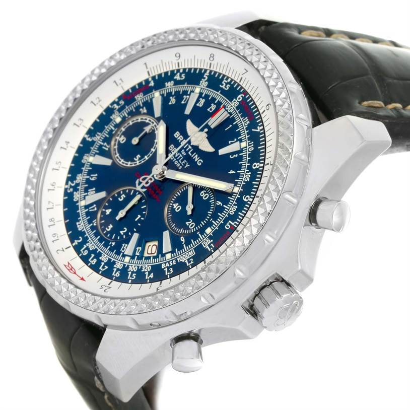 12988 Breitling Bentley Motors Chronograph Blue Dial Mens Watch A25362 SwissWatchExpo