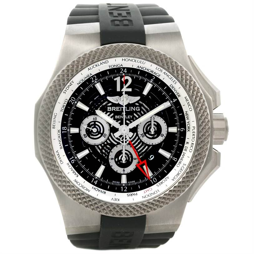 12878 Breitling Bentley GMT Chronograph Titanium Watch EB0432 Box Papers SwissWatchExpo