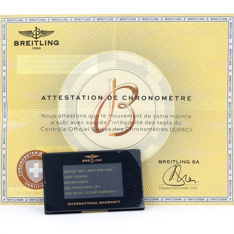 Breitling Bentley GMT Chronograph Titanium Watch EB0432 Box Papers SwissWatchExpo