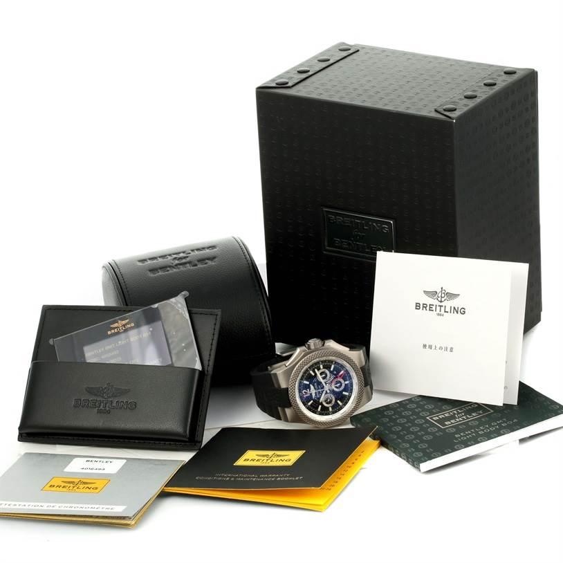 12878 Breitling Bentley GMT Chronograph Titanium Watch EB0432 Box Papers SwissWatchExpo