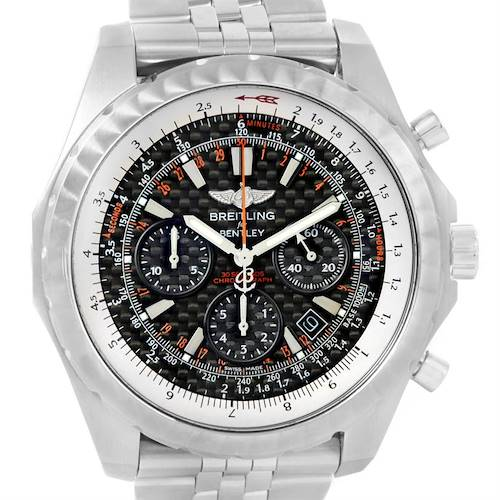 Photo of Breitling Bentley Motors T Speed Carbon Dial Limited Watch A25365