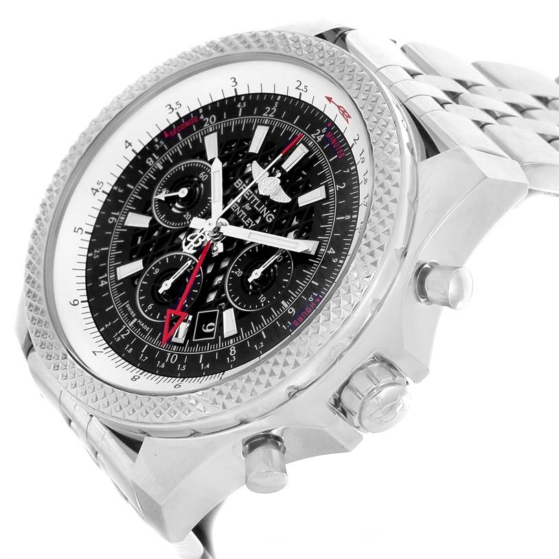Breitling Bentley GMT Chronograph Black Dial Mens Watch AB0431 Box Papers SwissWatchExpo