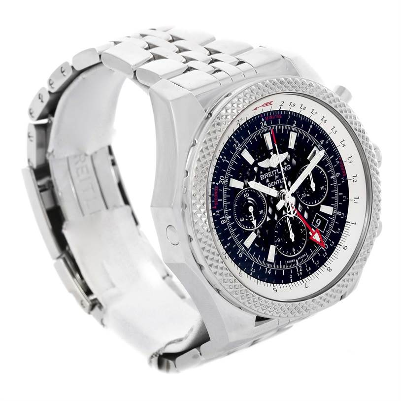 13264A Breitling Bentley GMT Chronograph Black Dial Mens Watch AB0431 Box Papers SwissWatchExpo