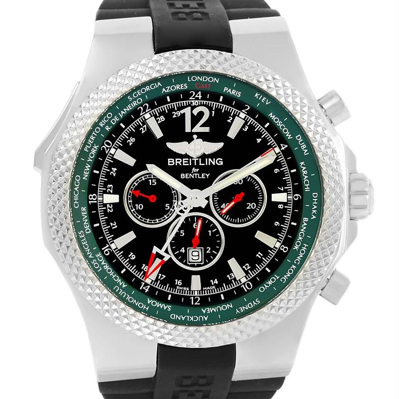13227 Breitling Bentley GMT Limited Edition Watch A4736254/B919 Unworn SwissWatchExpo