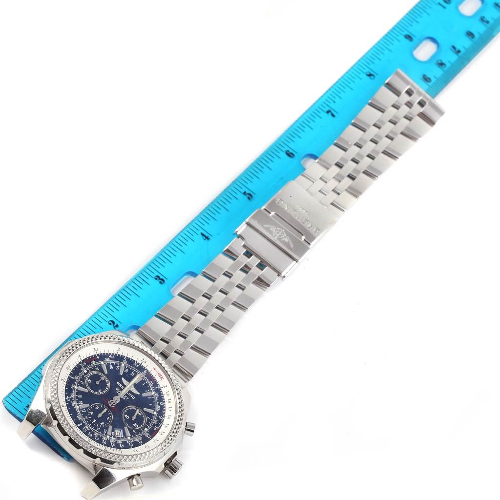 13645 Breitling Bentley Motors Blue Dial Chronograph Mens Watch A25362 SwissWatchExpo