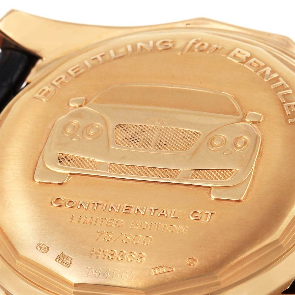 Breitling Bentley Continental GT Rose Gold Limited Edition Watch H13363 SwissWatchExpo