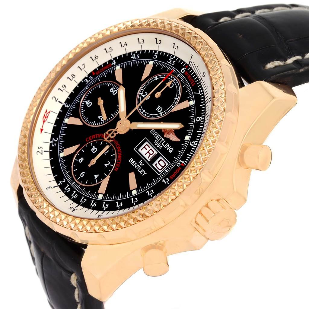 13778P Breitling Bentley Continental GT Rose Gold Limited Edition Watch H13363 SwissWatchExpo