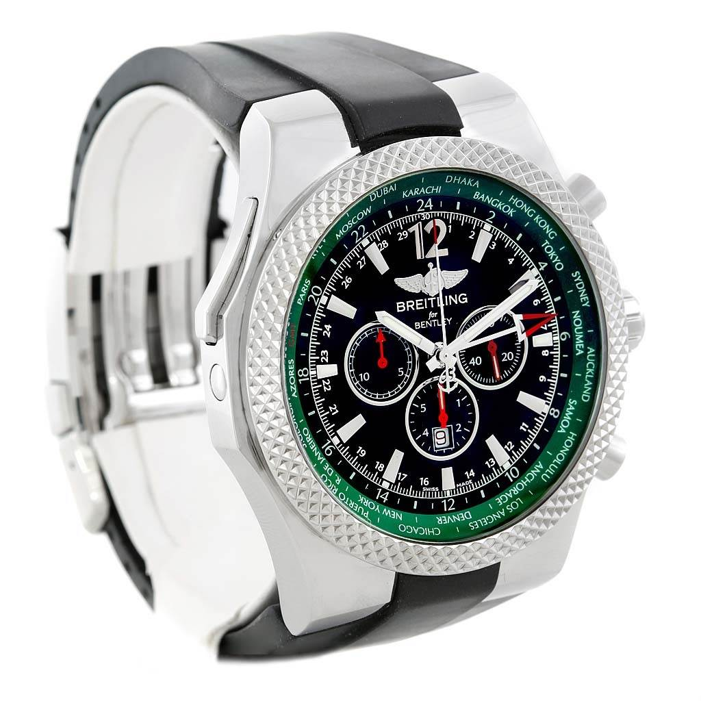 13996P Breitling Bentley GMT Green Bezel Limited Edition Watch A47362 Unworn SwissWatchExpo