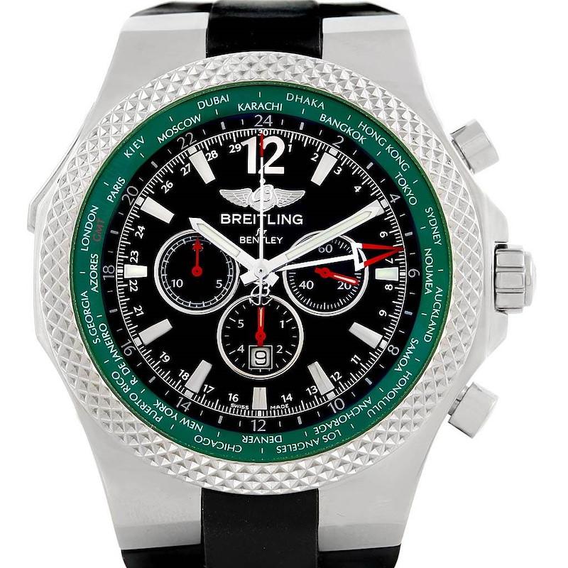 Breitling Bentley GMT Green Bezel Limited Edition Watch A47362 Unworn SwissWatchExpo