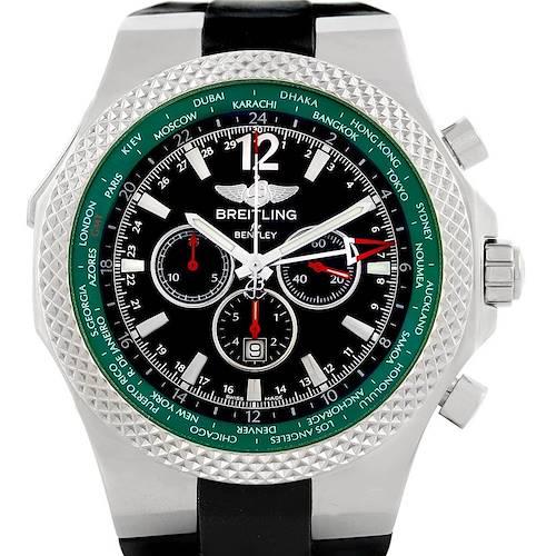 Photo of Breitling Bentley GMT Green Bezel Limited Edition Watch A47362 Unworn