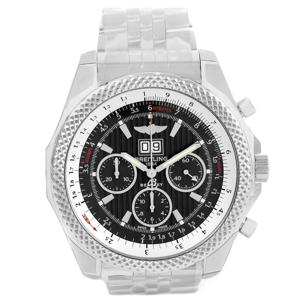 Breitling Bentley 6.75 Speed Chronograph Grey Dial Watch A44364 Unworn SwissWatchExpo