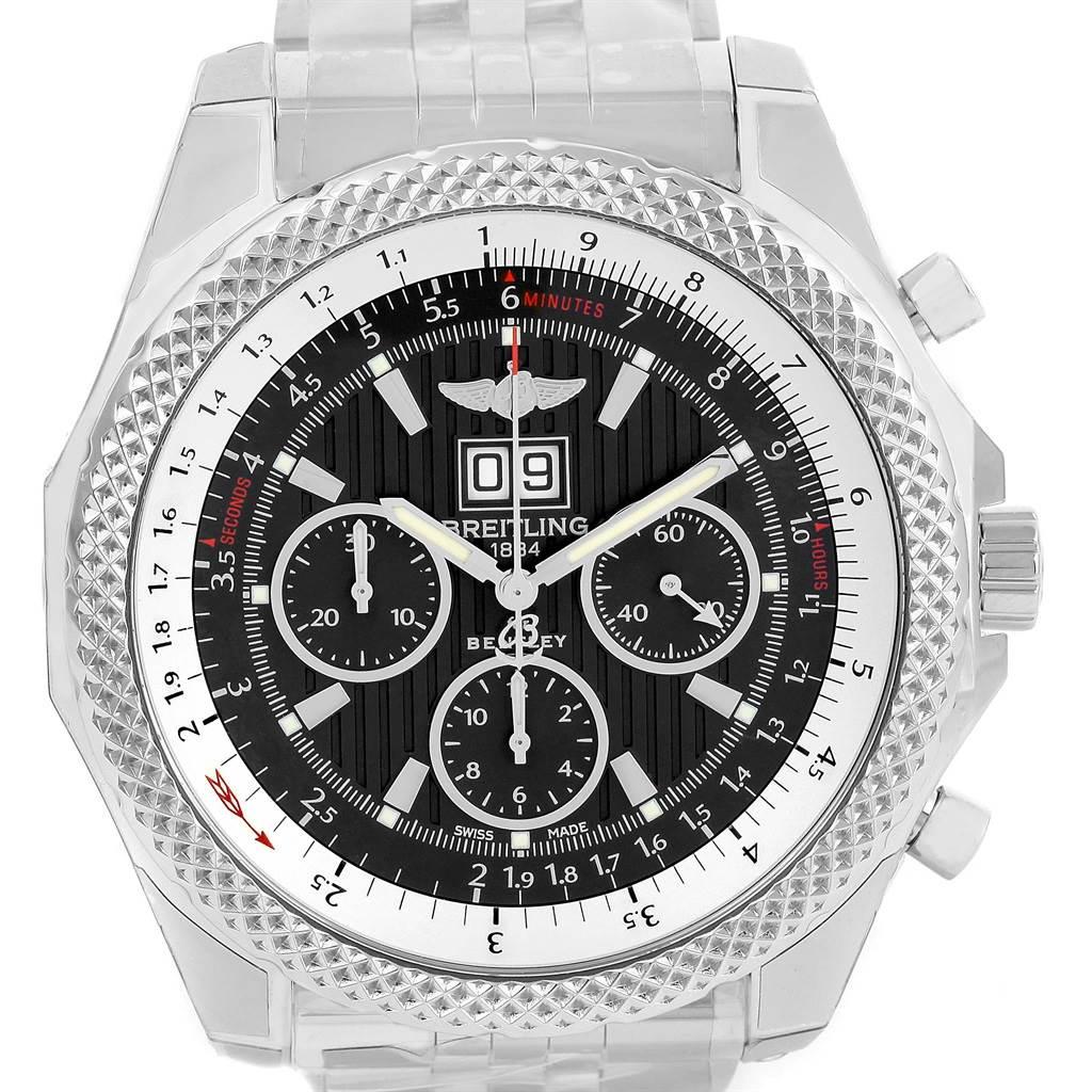 14105 Breitling Bentley 6.75 Speed Chronograph Grey Dial Watch A44364 Unworn SwissWatchExpo