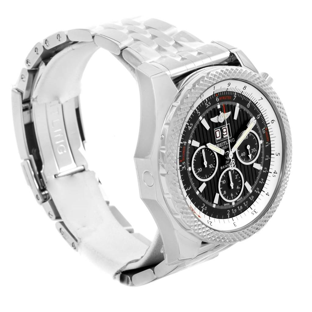 14105 Breitling Bentley 6.75 Speed Chronograph Grey Dial Watch A44364 Unworn SwissWatchExpo