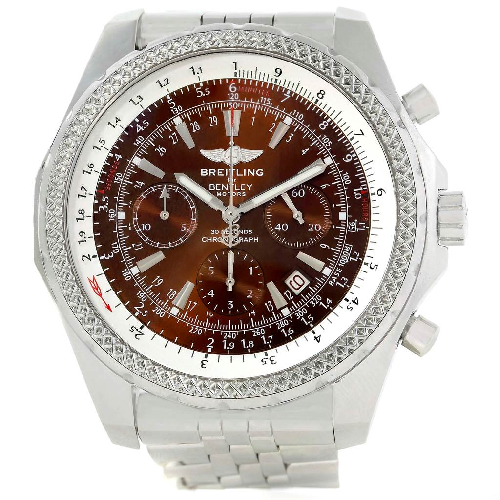 14160 Breitling Bentley Motors Bronze Dial Chronograph Mens Watch A25362 SwissWatchExpo