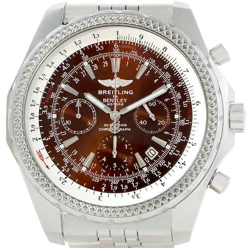 Photo of Breitling Bentley Motors Bronze Dial Chronograph Mens Watch A25362