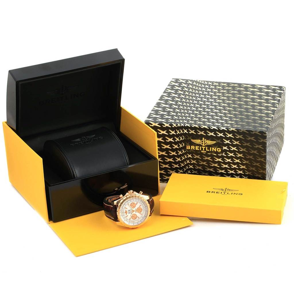 Breitling Bentley 6 75 18k Rose Gold Chronograph Le Watch H44363 Swisswatchexpo