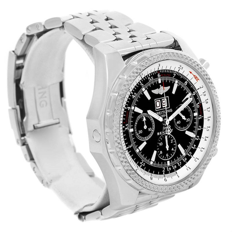 Breitling Bentley Motors Chrono Black Dial Mens Watch A44362 Box Papers SwissWatchExpo